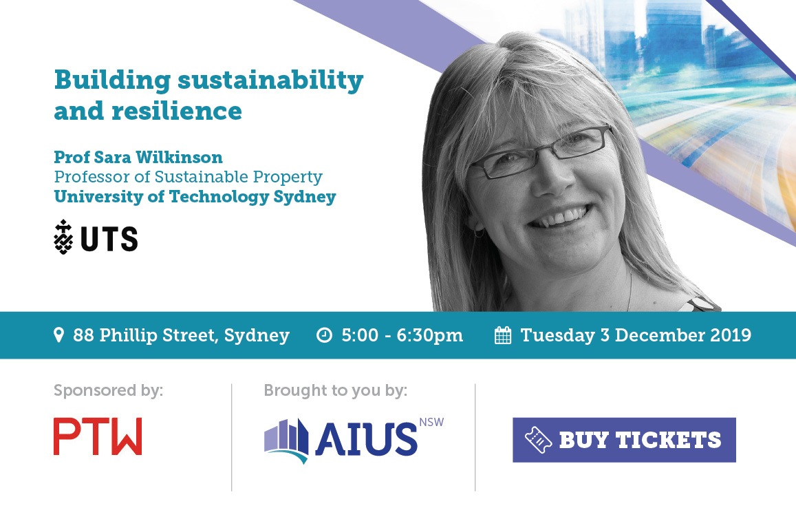 AIUS NSW City Briefing - Building sustainability and resilience